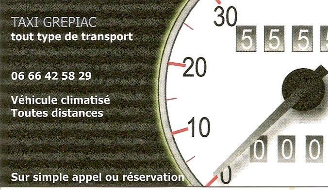 Carte de visite Taxi GREPIAC